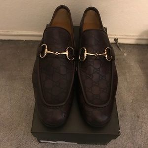 Brown Gucci Horse-bit loafer